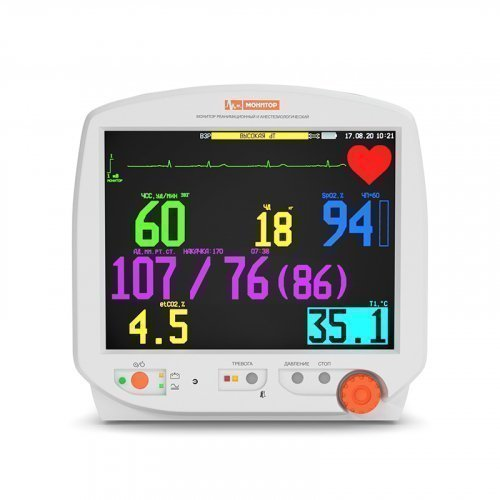 """Монитор пациента МИТАР 01-Р-Д, дисплей 10,4"""", встроенный принтер"""