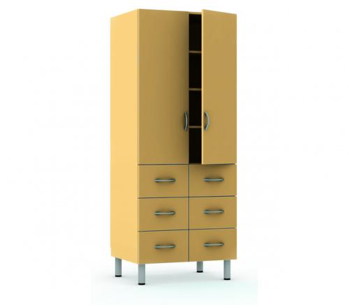 Мл-ШК-80-6я ЛДСП шкаф для документов, двухстворчатый