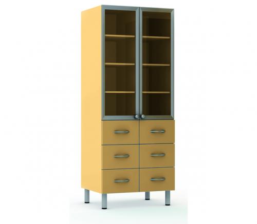 Шкаф-витрина комбинированный Мл-ШВ-6я