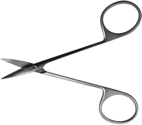 Ножницы глазные д/снятия швов изогнутые, 115 мм