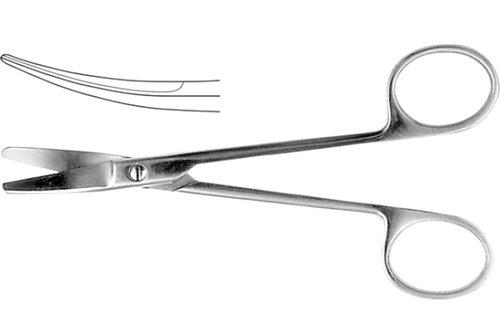 Ножницы хирургические, вертикально - изогнутые, 150 мм