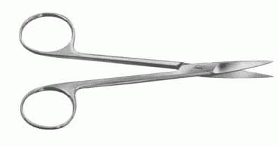 Ножницы с двумя острыми концами прямые , 140 мм