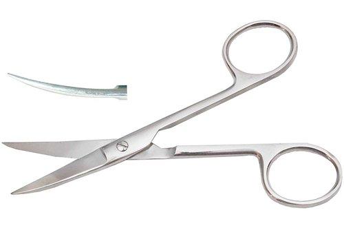 Ножницы с двумя острыми концами, изогнутые, 140 мм