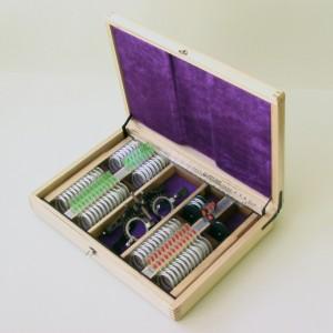 Набор пробных очковых линз и офтальмологических изделий, 70 предметов