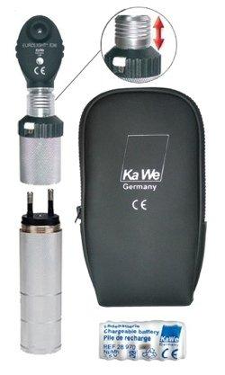 Офтальмоскоп EUROLIGHT (Евролайт) KaWe Е36 (6 апертур), (с ксенон-галогеновой лампой 3,5В) перезаряжается от розетки, (крепление «клик»), Европейский вариант