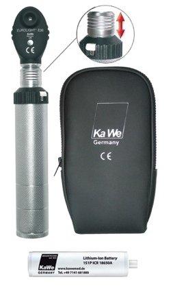 Офтальмоскоп EUROLIGHT (Евролайт) KaWe Е36 (6 апертур), (с ксенон-галогеновой лампой 3,5В) в комплекте с аккумулятором, (крепление «клик»), Европейский вариант
