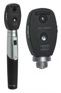 Офтальмоскоп прямой медицински mini 3000 Heine с ксенон - галогеновым (XHL) освещением, рукоятка батареечная mini 3000 (перезаряжаемая), пр-ва Heine