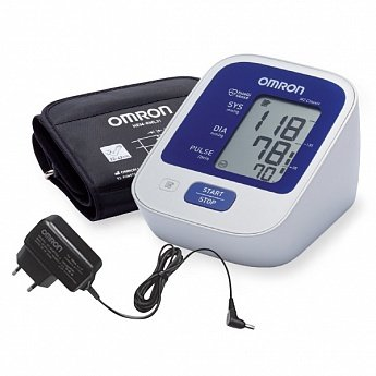 Измеритель артериального давления и частоты пульса автоматический тонометр OMRON M2 Classic (Адаптер+Универсальная манжета)