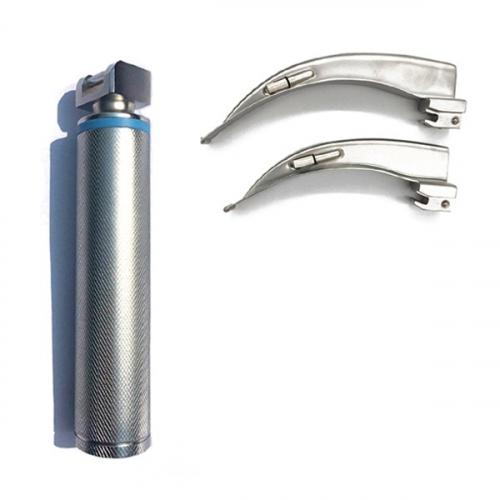 Ларингоскопы для осмотра горла 2 клинка, 1 рукоятка, П-3-153