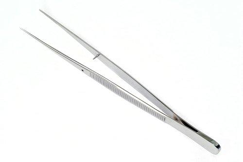 Пинцет анатомический глазной, прямой. 150*0,6 мм