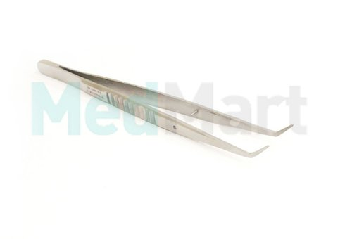Пинцет зубной изогнутый, 147 мм