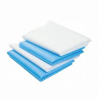 Простыня 200*140 см, 30 г/м2, спанбонд, 10 шт, поштучно, голубая