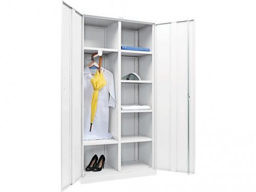 МД 2 ШМ сталь, шкаф для хранения рабочей одежды и хоз. инвентаря