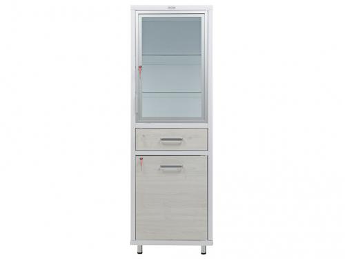 HILFE МД 1 ШМ-SSD верх - стекло, низ — металл, шкаф для медик. и инстр.