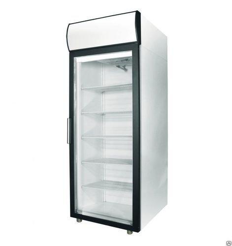 """Шкаф холодильный фармацевтический V=500л, ШХФ-0,5 ДС (стекл. двери) (697х710х2028мм, 4 полки, вертик. подсветка, канапе с подсветкой) """"ПОЛАИР"""""""