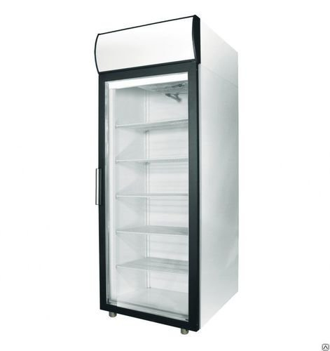 """Шкаф холодильный фармацевтический V=700л, ШХФ-0,7 ДС (стекл. двери) (697х945х2028мм, 4 полки, вертик. подсветка, канапе с подсветкой) """"ПОЛАИР"""""""