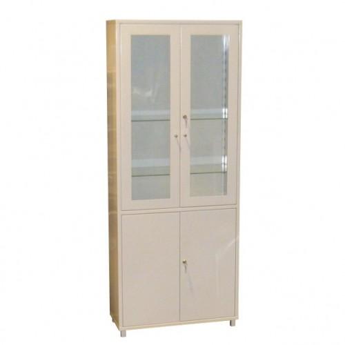 ШМ 2-2 А1 верх - стекло, низ — металл, шкаф для докум. и мед. инвентаря