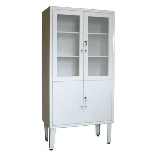 ШМ 2-2 верх - стекло, низ — металл, шкаф для медикаментов