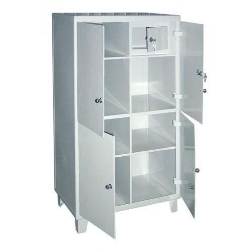 ШС-01 металл, шкаф для хранения инструментов, трейзер, четырёхстворчатый