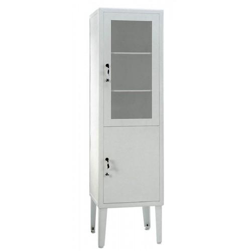 ШМ 1-2 сталь, шкаф для медикаментов, одностворчатый