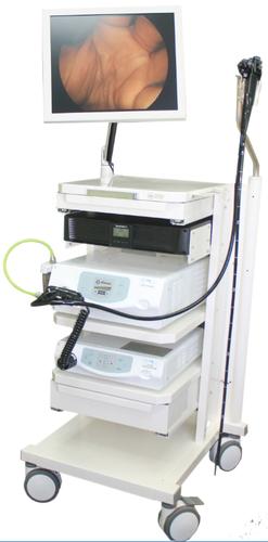 Гибкий видеоцистоскоп Pentax, эндоскопическая стойка в сборе