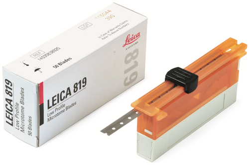 Сменные лезвия тип 819 низкий профиль, одноразовые, для рутинных срезов, 50 шт/упак