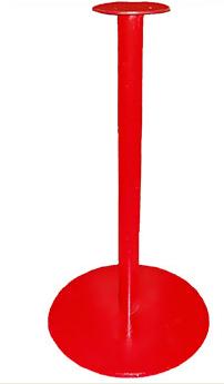 Стойка круглая красная держатель автомата капсульных бахил