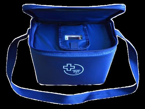Сумка – холодильник для перевозки биологических материалов с охлаждающими элементами и электронным индикатором, 2 литра