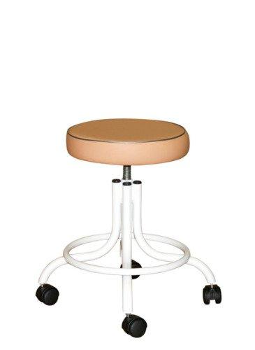 Винтовой табурет с  мягким сиденьем и опорным кольцом для ног Т01-1