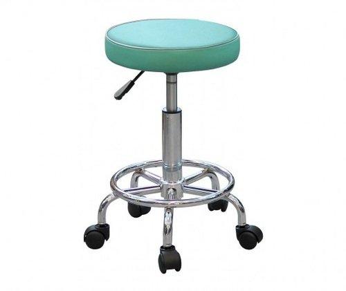 Табурет лабораторный Т06, кольцо-опора для ног, колеса