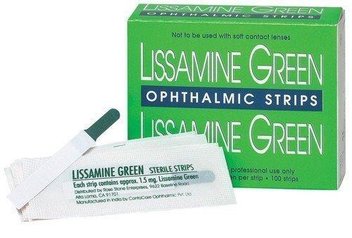 Тест-полоски офтальмологические Lissamine Green, 100 шт.