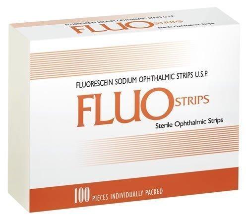 Тест-полоски офтальмологические FluoStrips, 100 шт.