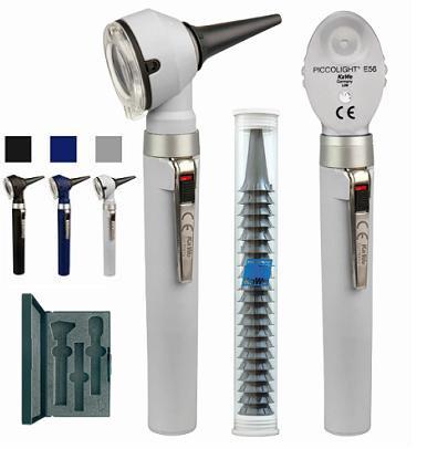 Отоскоп PICCOLIGHT (Пикколайт) LED ФО повышенной яркости, серый, KaWe