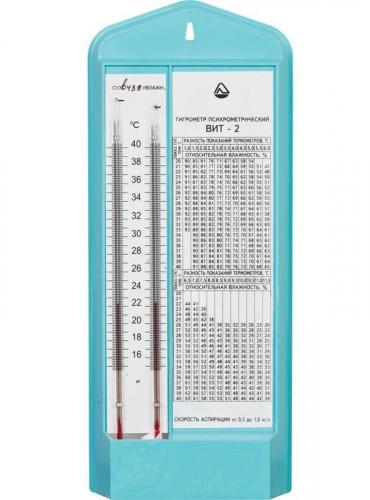Гигрометр психрометрический ВИТ-2, +15+40°С