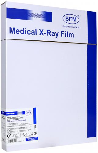 Пленка медицинская для рентгенографии SFM общего назначения синечувствительная X-Ray BF, 30x40 мм