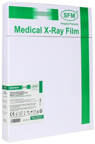 Пленка медицинская для рентгенографии SFM общего назначения зеленочувствительная X-Ray GF, 24x30 мм