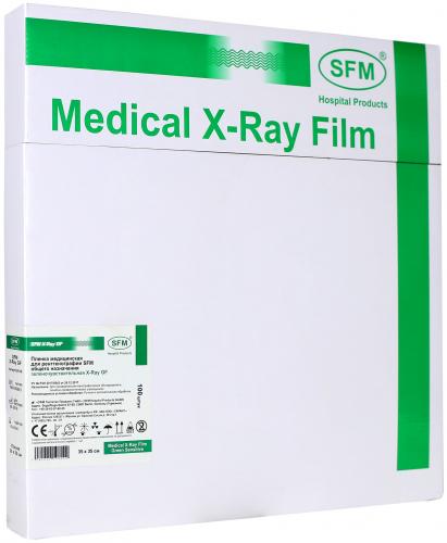 Пленка медицинская для рентгенографии SFM общего назначения зеленочувствительная X-Ray GF, 35x43 мм