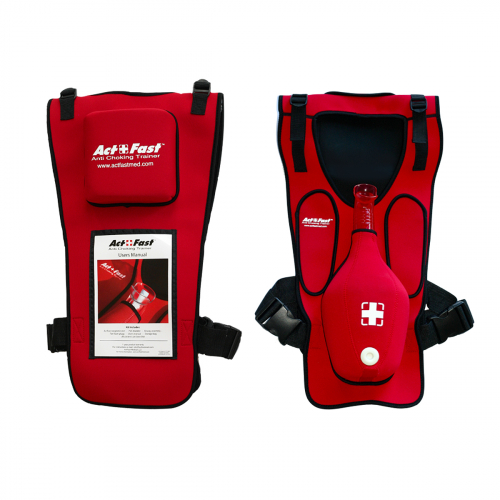 Тренировочный жилет для отработки приема Геймлиха «Act+Fast», красный