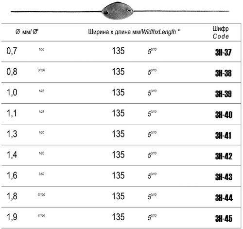 Зонд цилиндр. 2-х стор. д/слезного канала № 0,0,7, 135 мм